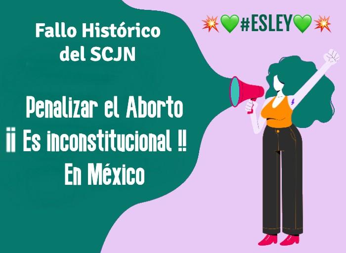 Penalizar el aborto en México es inconstitucional